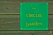 the circus garden sign