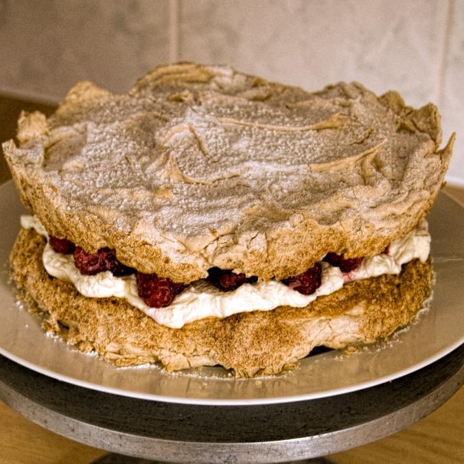hazelnut meringue and raspberry 3