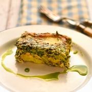 potato, spinach and broad bean frittata
