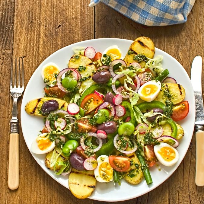 vegetarian salade nicoise