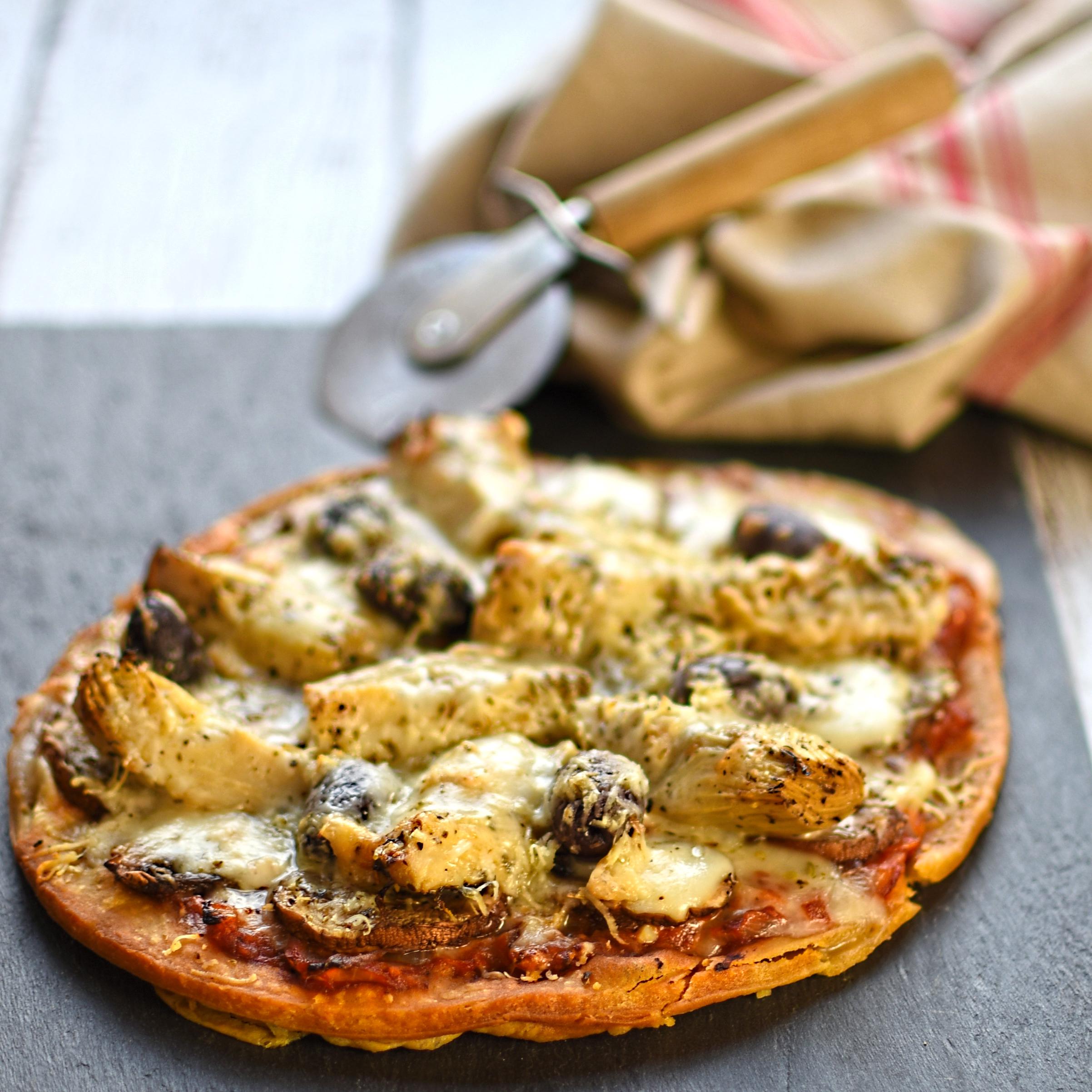 artichoke and taleggio pizza frittaThe Circus Gardeners Kitchen