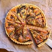 chard and parmesan tart