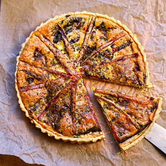 chard and parmesan tart