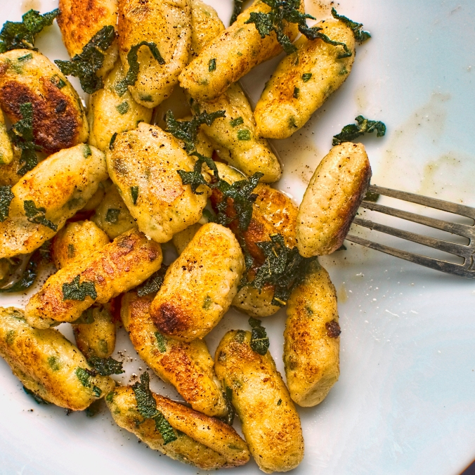 parsnip, ricotta and chive gnocchi with lemon and sage butter