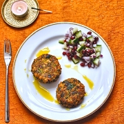 spicy-chickpea-cakes-with-curry-oil