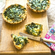 wild garlic tartlets