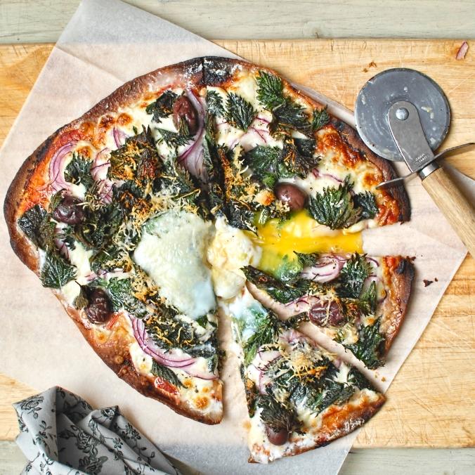 wild nettle pizza