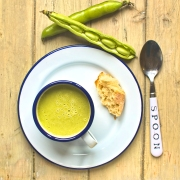 broad bean spring onion oregano soup ingredients