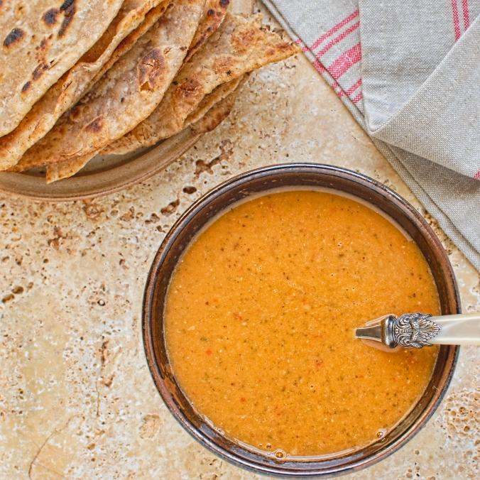 tomato, lentil & tamarind soup