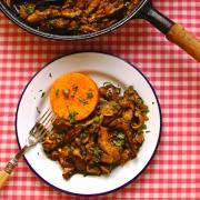 mushroom-fricasee-with-butternut-squash-fondant
