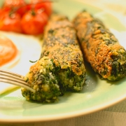 spinach and parmesan sausages