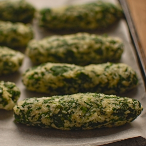 spinach sausage ready to cook
