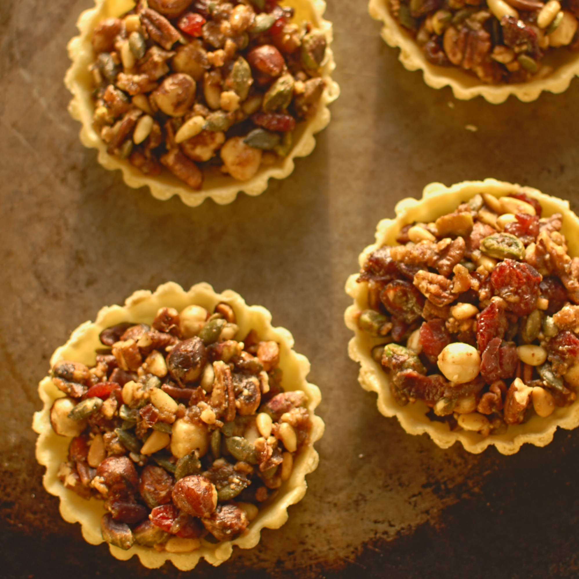 pumpkin seed, cranberry and nut tartlets – The Circus ...