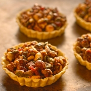 pumkin seed, cranberry and nut tartlets