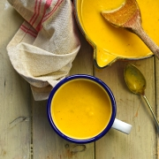smoky swede and carrot soup