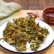 nettle fritters with chilli dipping sauce