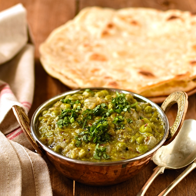 green pea and coconut dahl