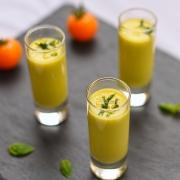 yellow tomato gazpacho shots