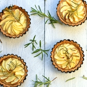 apple and rosemary tartlets