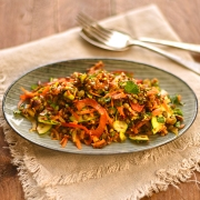 spicy lentil and red rice salad