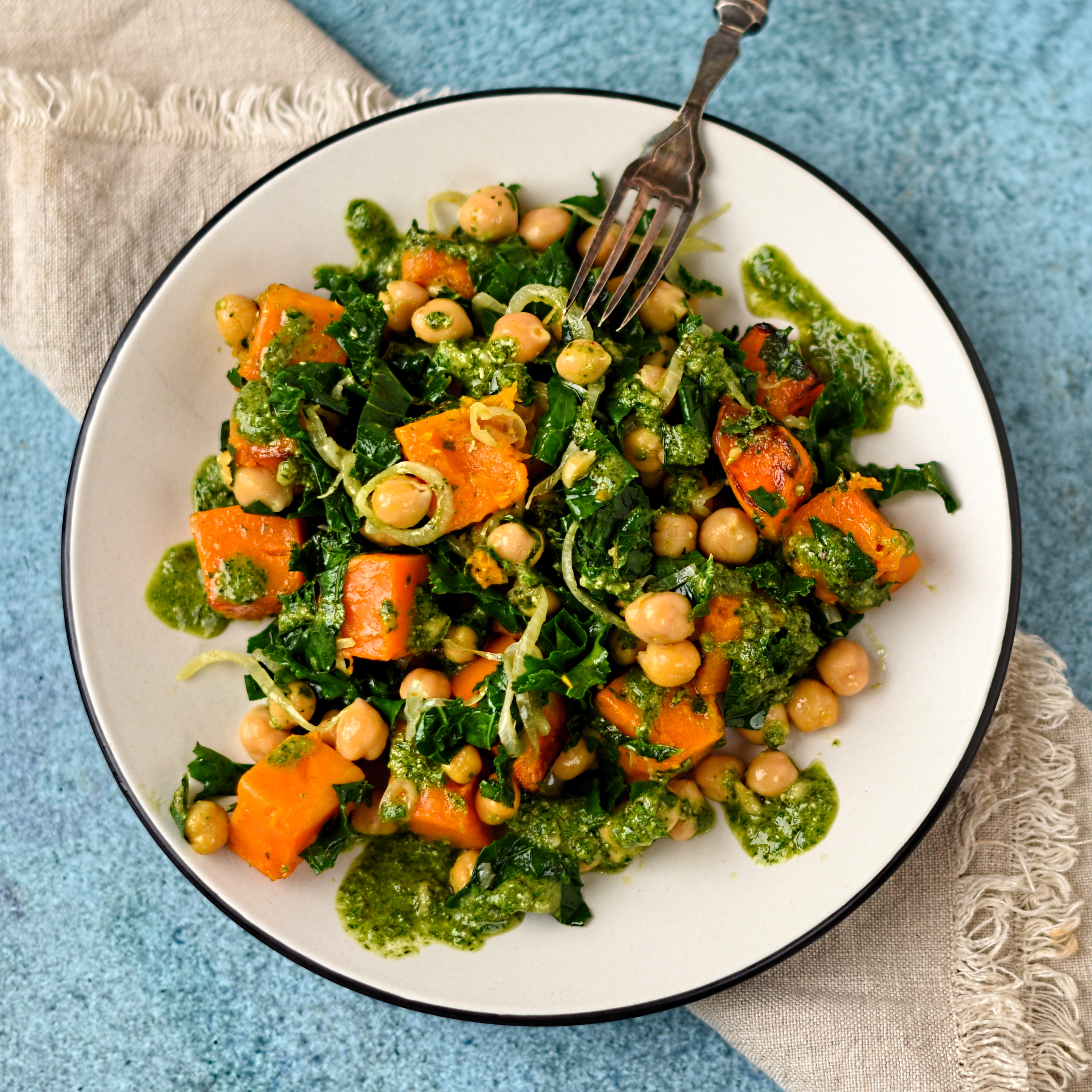 Gardeners Kitchen Warm Salad Of Butternut Squash Chickpea And Kale The Circus