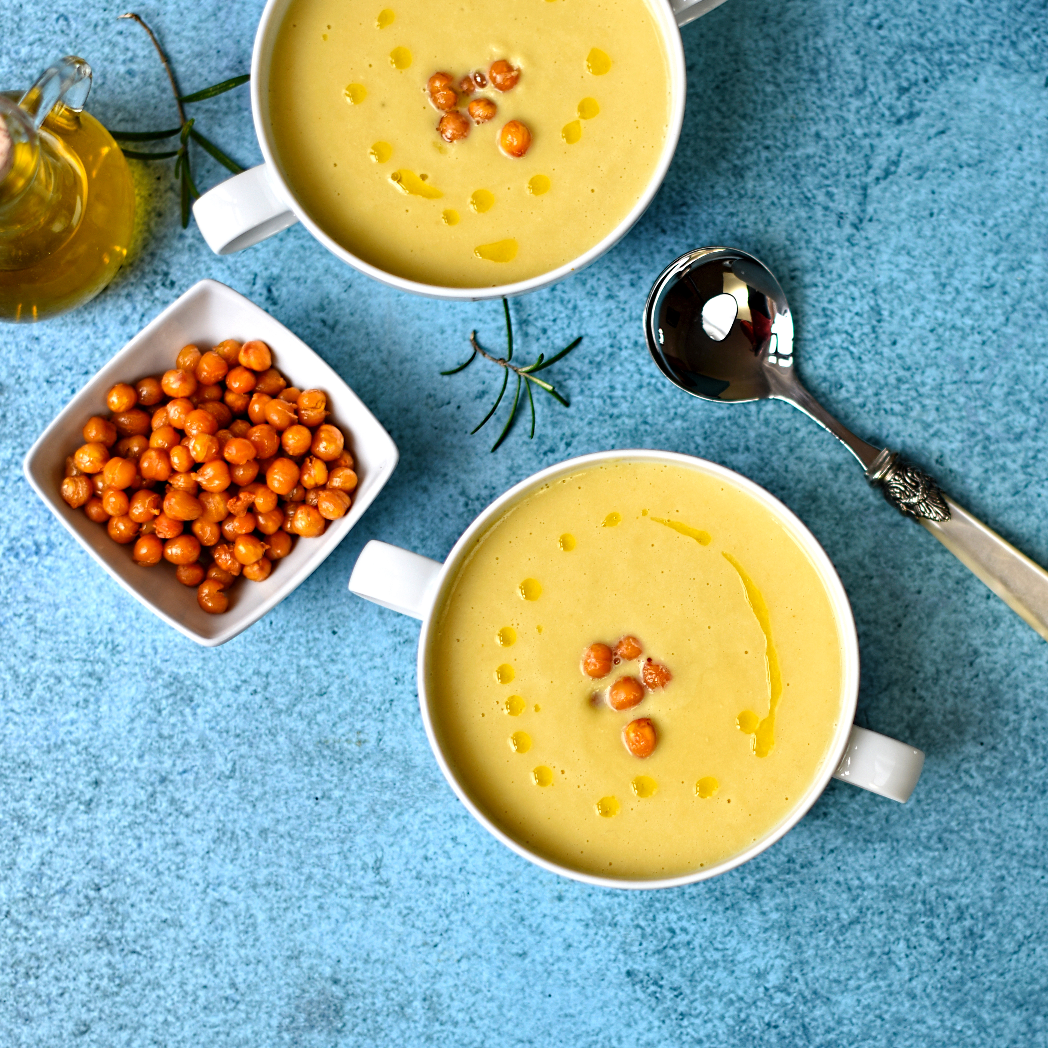 chickpea soup with rosemary oil the circus gardener s kitchen